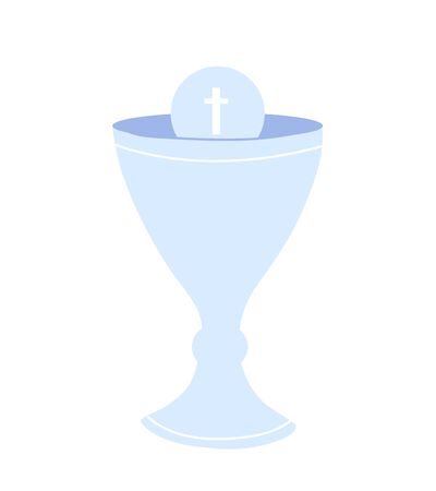 Communion cup isolated icon. Christian symbol. Rites of the Catholic Church Illustration