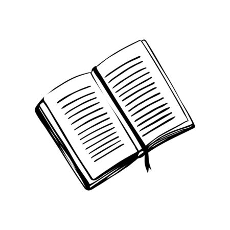 Open book isolated icon. Symbol of library, knowledge and literature. Back to school. Vector Illustration 일러스트
