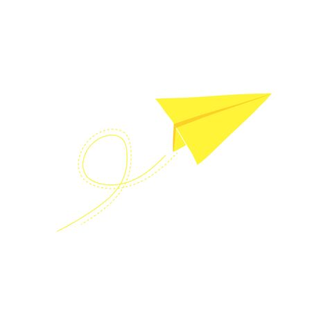 Paper airplane in flight. Symbol of mail and fast delivery. Stock Illustratie