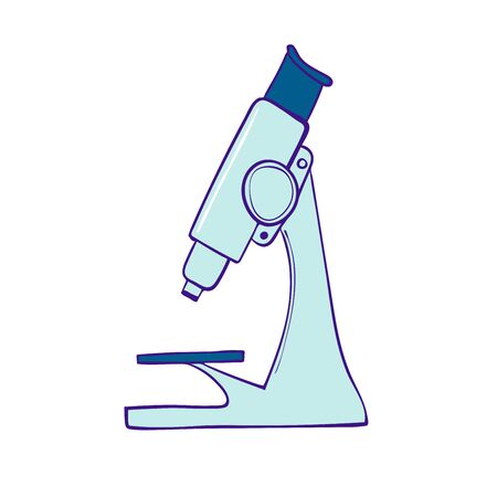 Microscope symbol of a medical laboratory or chemical lab Illustration