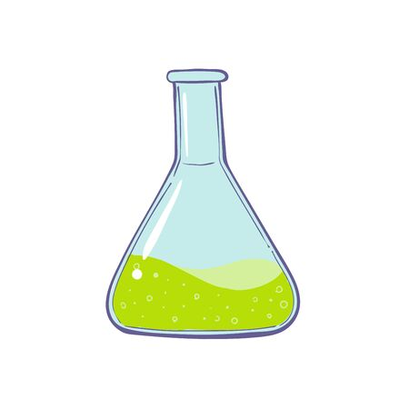 test-tube icon. Symbol of medical or chemical laboratory. Lab logo