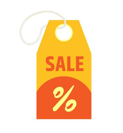 Price tag isolated icon. Seasonal discounts and sales