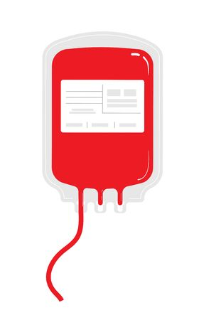 Blood donation and transfusion. Save the life of the patient. Isolated vector illustration