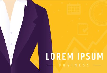 Businesswoman in a suit. Job search and career growth. Vacancy work in the office as a manager. Illustration
