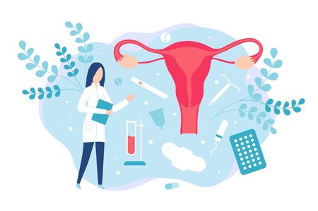 Gynecology and women health. Consultation with a gynecologist or reproductologist