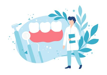 Dentistry and healthy teeth. Examination by a dentist. Hygiene and oral care.
