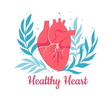 World heart health day. Cardiology and heart disease. Vector illustration Ilustracja