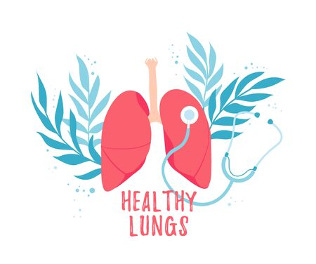 The concept of pulmonology and a healthy respiratory system. World Healthy Lung Day