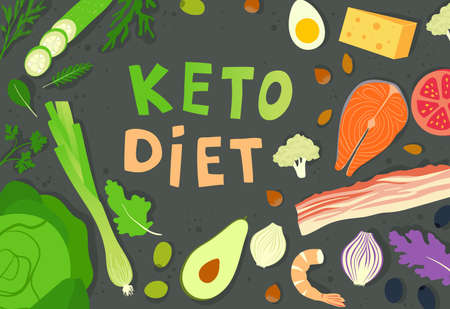 The keto or ketogenic diet. A diet low in carbohydrates for weight loss. Insulin resistance and proper nutrition.