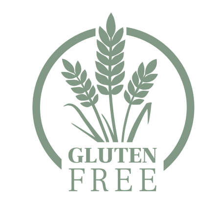 Gluten free food packaging stamp. Product label Illustration