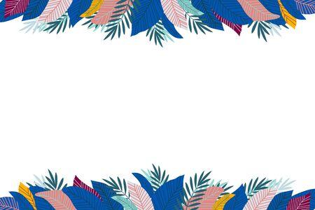 Tropical foliage. Floral design background. vector illustration