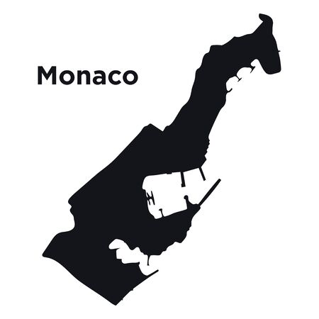 High detailed vector map - Monaco.