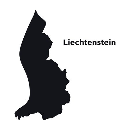 High detailed vector map - Liechtenstein.