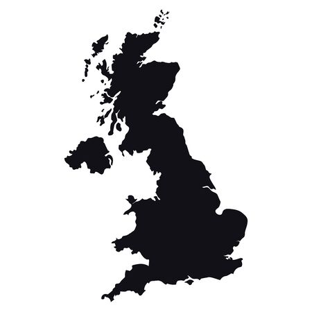 High detailed Great Britain vector map Vetores