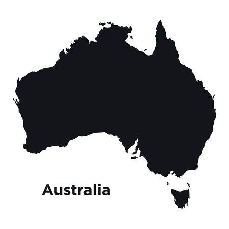 High detailed vector map - Australia.