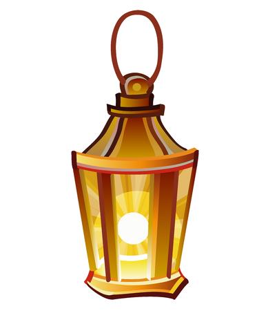 Bright brown lantern. Flashlight Vector Illustration. Eps 10 and high resolution RGB jpg image. Illustration