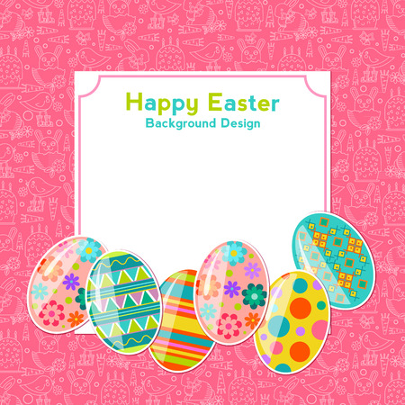 a place for the text: Happy Easter background design, vector illustration. Design template for greeting card, poster, flyer, blog. There is a place for text Illustration