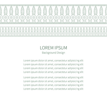cat goddess: Template frame for greeting cards, invitations with space for your text. Invitation card with Egyptian national pattern, vector Illustration