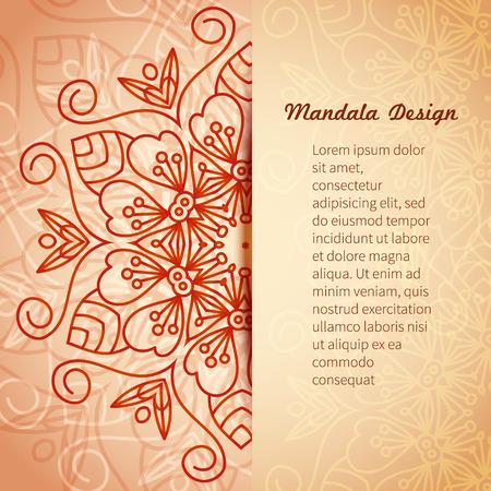 Vector card with mandala.
