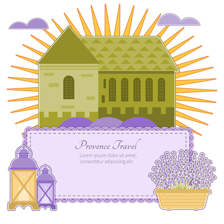 Postcard trip Provence attractions Provence design elements and space for your tex
