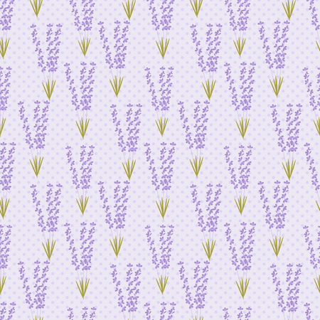 provence: Summer pattern of lavender in Provence style. Seamless pattern for tissue, packaging, or other design surface. Illustration