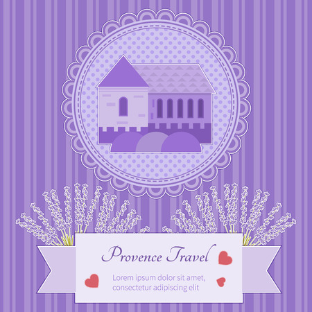provence: Postcard trip Provence attractions Provence design elements and space for your tex