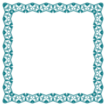 boarders: Frame with ethnic elements.  Border. Photo Frame. Isolated background. Illustration