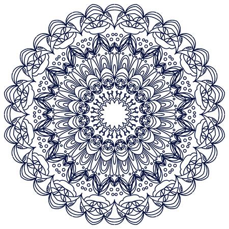 Vector mandala. Décor pour votre conception, ornement en dentelle, modèle rond avec beaucoup de détails. style oriental, dentelle à la main. Vecteurs
