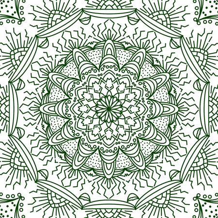 braiding: Mandala. Coloring page. Lace ornament, round pattern with lots of details. Oriental pattern, vector illustration. Islam, Arabic, Indian, turkish.