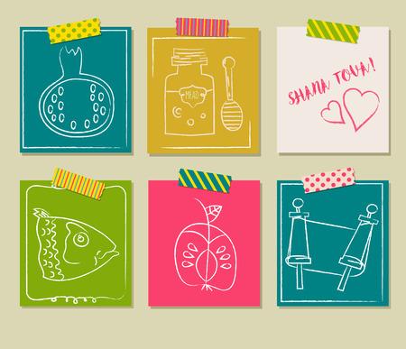 Happy Jewish new year, Rosh Hashanah, Shana Tova greeting cards