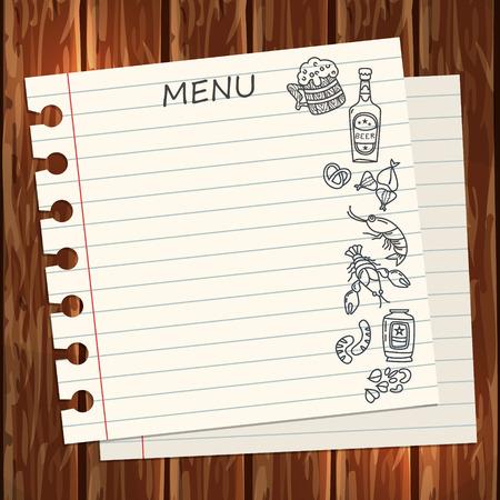 Beer restaurant menu template
