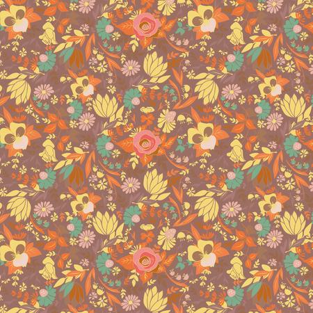 seamless pattern: Summer flowers seamless pattern