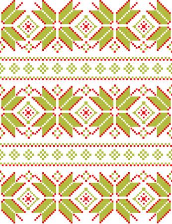 Winter-nahtlose Pixelmuster. Pastiche Skandinavischen Stickerei ...