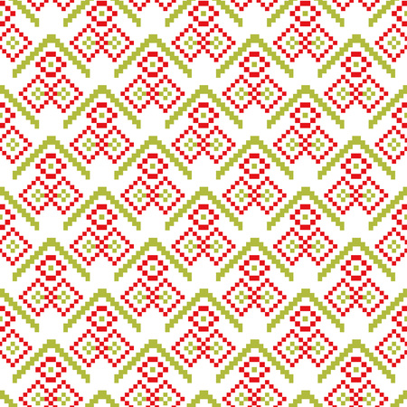 Merry Christmas seamless pattern pixel