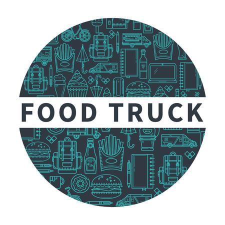 food: Street food illustration