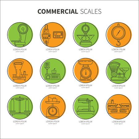 Set icons shop scales
