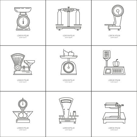 Set icons trading scales Illustration