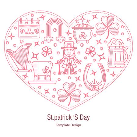 st patrick s day: St. Patrick s Day banner Illustration