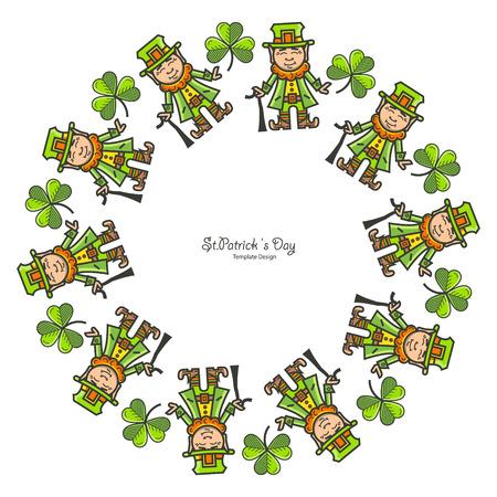 st patrick s day: St. Patrick s Day round frame