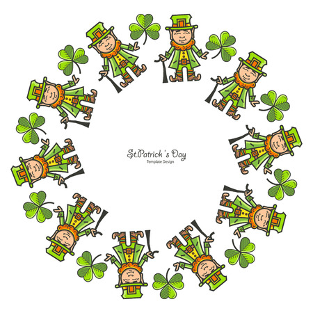 St. Patrick s Day round frame