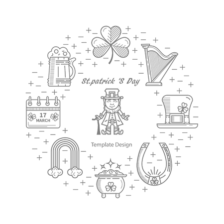 st patrick s day: St. Patrick s Day illustration.