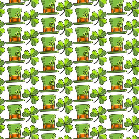 st patrick s day: St. Patrick s Day seamless pattern Illustration