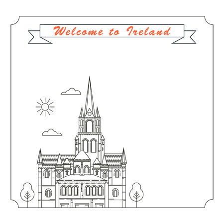 irish cities: Frame with symbols of Ireland Illustration