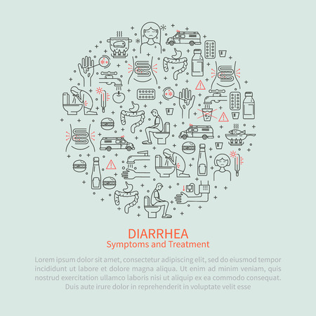 colorectal cancer: Medical round banner diarrhea