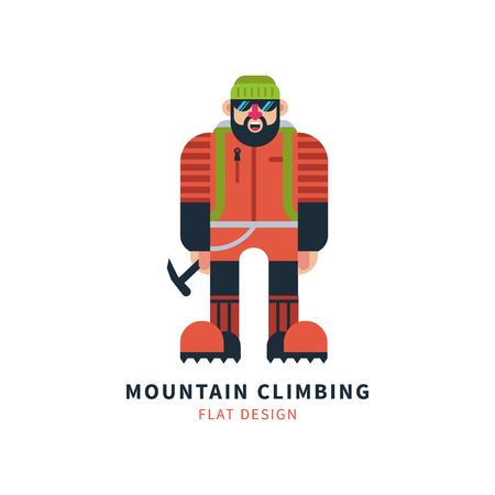 Mountaineer logo vector Illusztráció