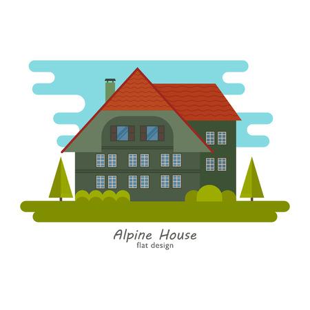 Alpine house vector Illusztráció