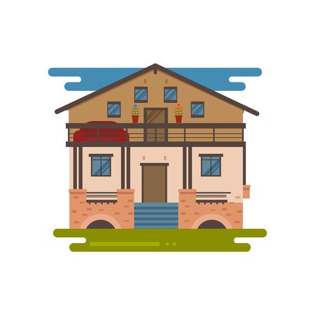 Country house vector Illusztráció