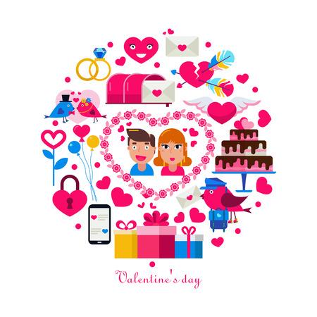 Valentine s day concept circle