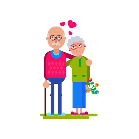Valentines day old couple