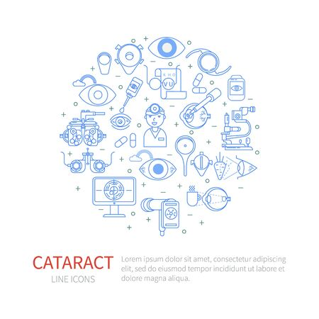 Linear elements of cataract in the circle